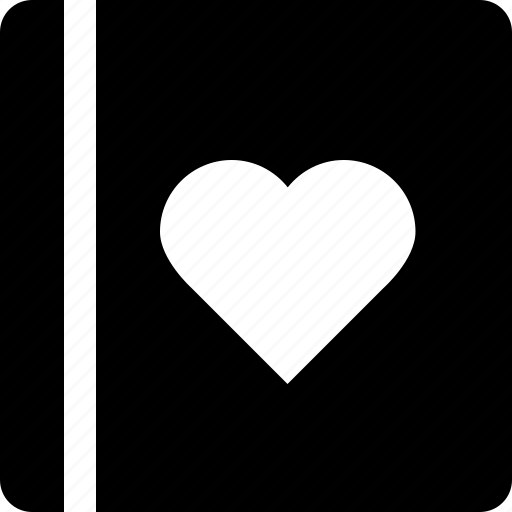 book, document, favorite, heart, love, love story, valentine's day icon
