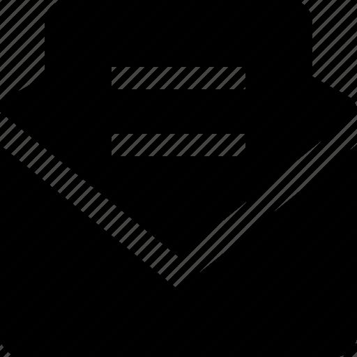envelope, full, letter, opened icon