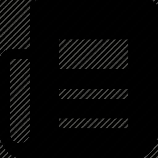 blog, content, newspaper, paper, script icon