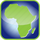 africa, frame, in icon
