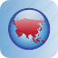 asian, continent, country, map, maps, russia icon