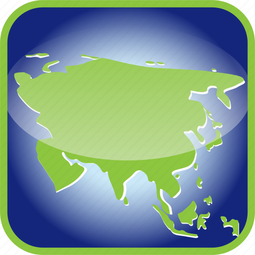 asia, china, continent, country, map, maps, russian icon