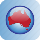 australia, continent, country, map, maps, tasmania icon