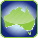 australia, frame, in icon
