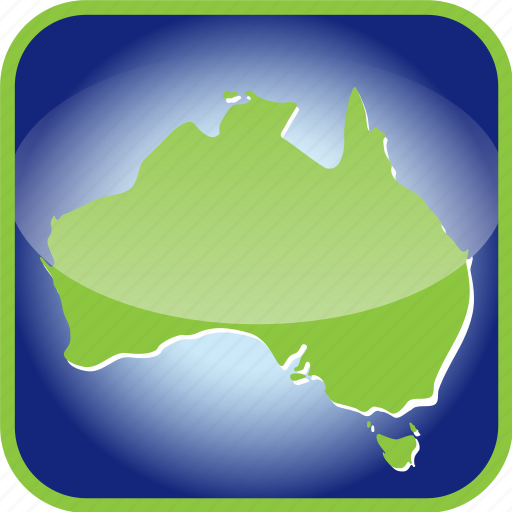 australia, australian, continent, country, map, maps icon