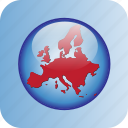 country, europe, european, european icon, map, maps icon