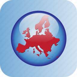 circle, europe, in icon