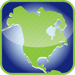 america, frame, in, north icon