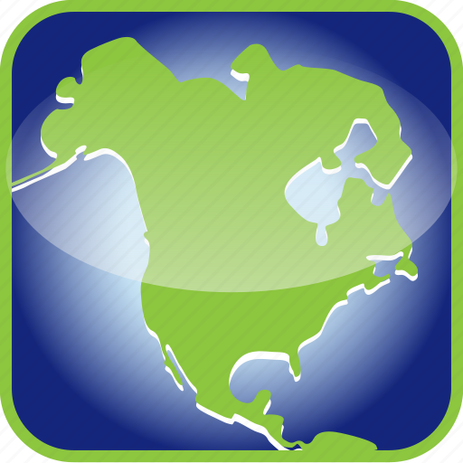 Alaska, canada, continent, country, map, maps, north america icon