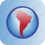 america, circle, in, south icon