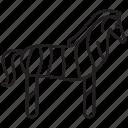 cute, horse, pony, safari, zoo, zebra, animal
