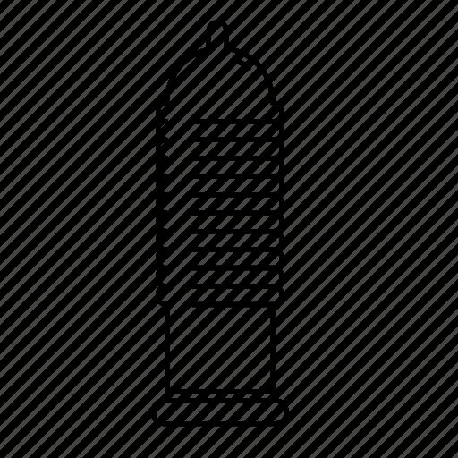 condom, contraception, male, ribbed, ribbed condom, sex, sexual intercourse icon