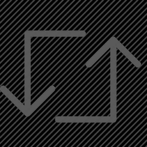 arrow, back, control, loop, media, outline, refresh, sync icon