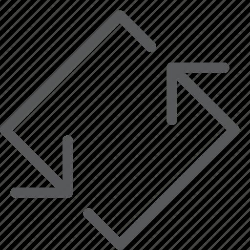 arrow, back, control, diamond, loop, media, refresh, sync icon