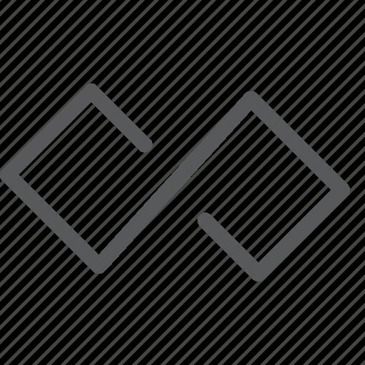 back, control, infinite, loop, media, outline icon