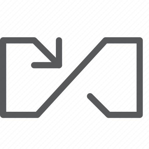 arrow, back, control, infinite, loop, media, outline icon