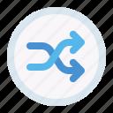 random, shuffle, button, interface icon