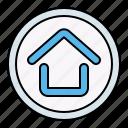 home, start, button, interface