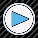 play, start, button, interface