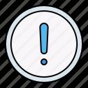 warning, alert, button, interface