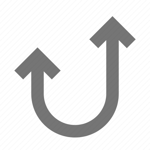 arrow, curve, navigation, software, tool, up, workflow icon