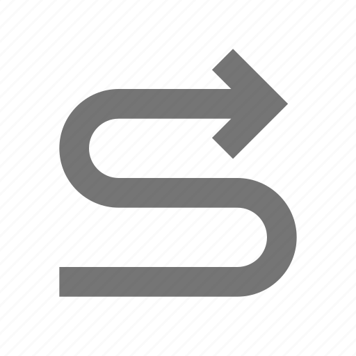 arrow, navigation, path, right, software, tool, workflow, zigzag icon