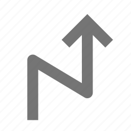 arrow, zigzag icon
