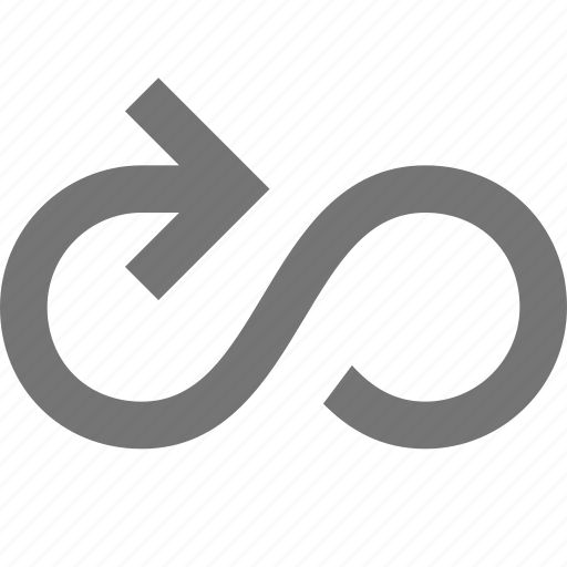 arrow, infinity, loop icon