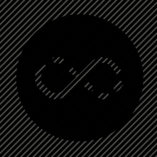 broken, loop, replay icon
