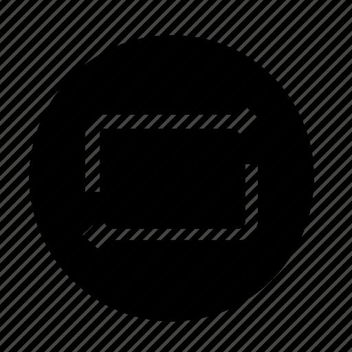 arrows, replay icon