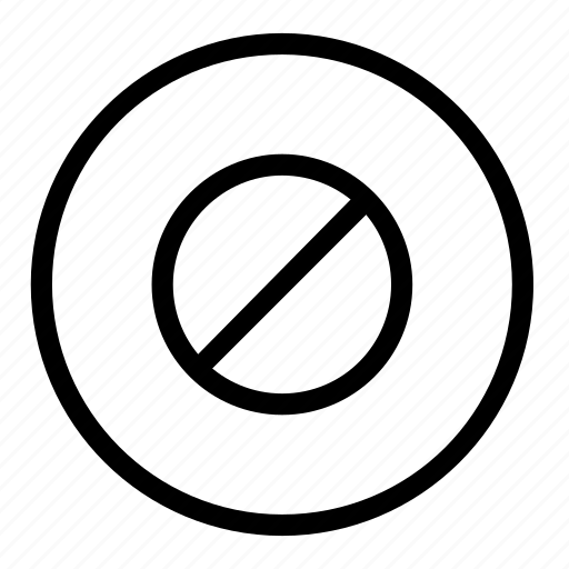 Block, cancel, stop, close, delete, media, remove icon - Download on Iconfinder
