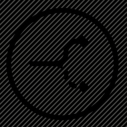 arrows, divide, separate, split icon