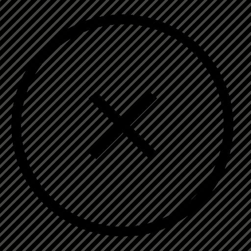 cancel, close icon