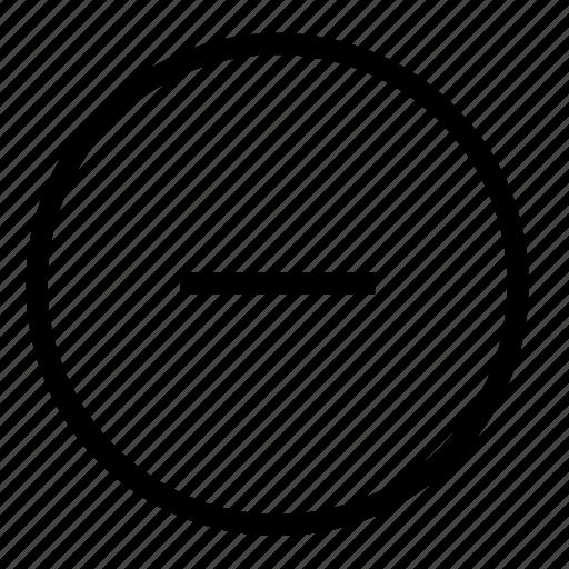 decrease, delete, minus, remove icon