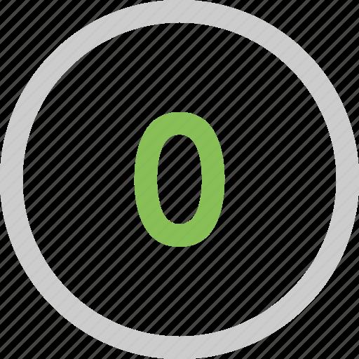 count, number, zero icon