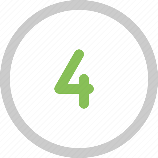 count, four, number icon