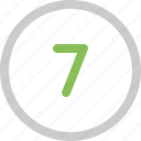 count, number, seven icon