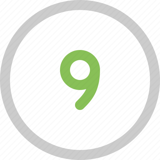 count, nine, number icon