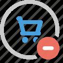 cart, ecommerce, minus, shopping