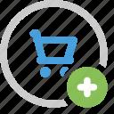 cart, ecommerce, plus, shopping