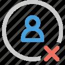 contact, error icon