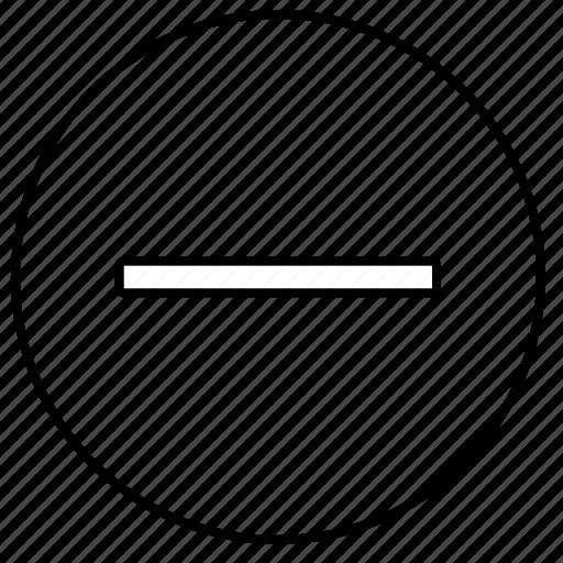 control, erase, function, minus, tv icon