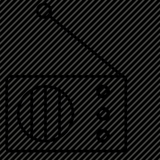 device, home, listen, program, radio icon