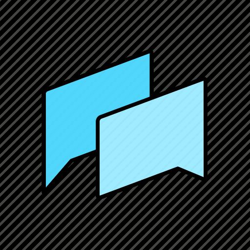 chat, conversation, dialogue, message, question, talk, text icon