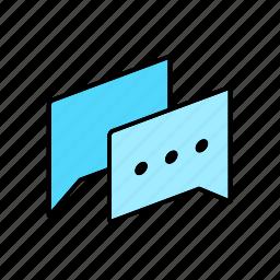 chat, conversation, dialogue, letter, message, question, talk icon
