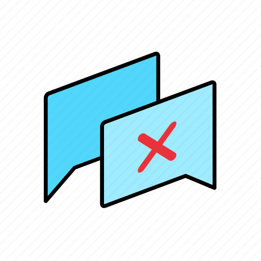 Answer, chat, conversation, dialogue, disagree, message, question icon - Download on Iconfinder