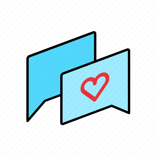 answer, chat, conversation, dialogue, love, message, question icon