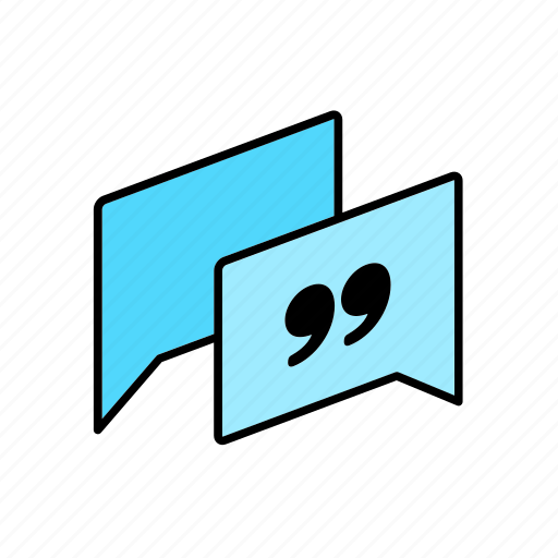 answer, chat, conversation, dialogue, message, question, quote icon