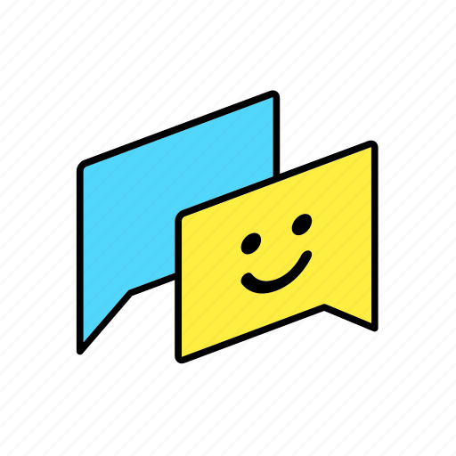 answer, chat, conversation, dialogue, message, question, smile icon
