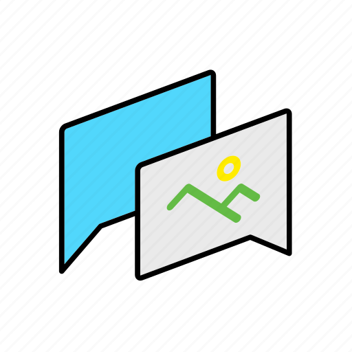 chat, conversation, dialogue, message, picture, question, talk icon
